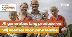Persbericht: Boer Bewust zet 'Thank a Farmer Day 2018' op de kaart